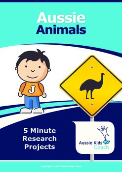 5 minute projects - Aussie Animals!