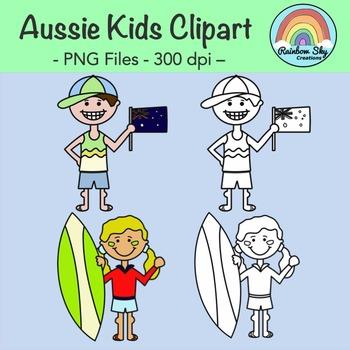 Aussie Kids Clipart - Free Download