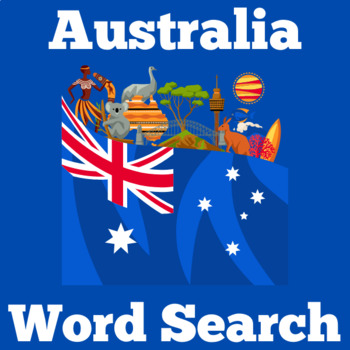Australia Activity | Australian | Australia Word Search Activity