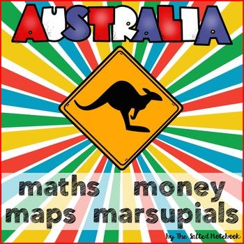 Australia Maths Money Maps Animals Worksheets