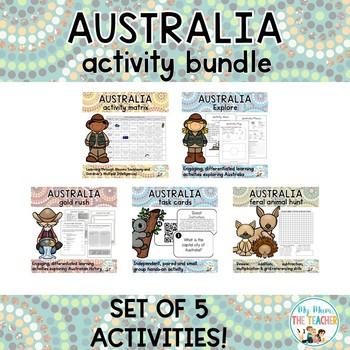 Australia Activity Pack Bundle