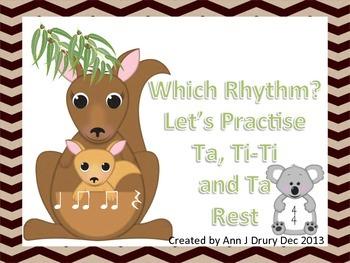 Australian Animals - Let's Practise Ta, Ti-Ti and Ta Rest