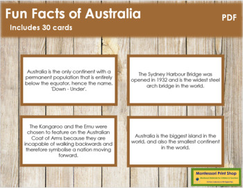 Australia Fun Facts (color borders)
