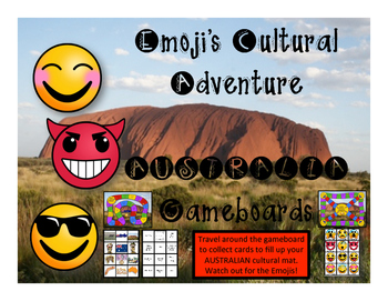 Australia Game - Emoji's Cultural Adventure Gameboard
