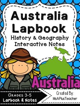 Australia Lapbook & Interactive Notes