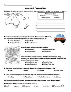 Australia & Oceania Test