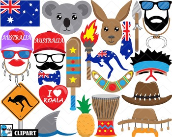 Australia Props - Clip Art Digital Files Personal Commerci