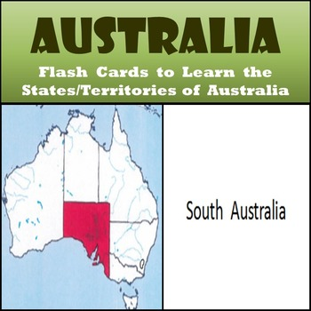 Australia - States and Territories Flash Cards