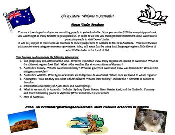 Australia Travel Brochure