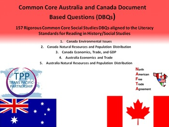 Australia and Canada Document Based Questions - 157 DBQs a