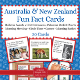 Australia and New Zealand Unit Activity - Fact Cards for G