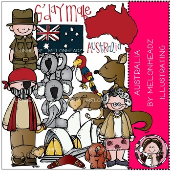 Melonheadz: Australia clip art - COMBO PACK