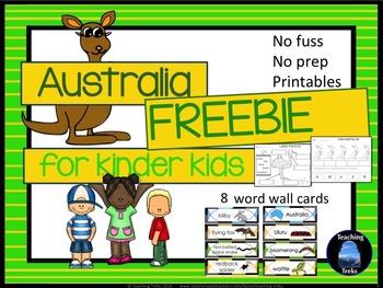 Australia for Kinder Kids FREE