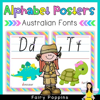 Australian Alphabet Charts - Every State's School Font in