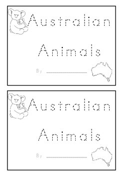 Australian Animal Beginning Sounds Animal Name Book K-1 Fo