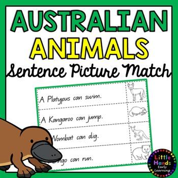 Australian Animal Sentence Picture Match