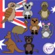 Australian Clip Art- Animals, Birds and Flowers