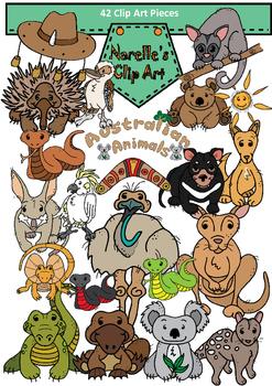 Australian Animals Clip Art #1. Transparent Backgrounds. 4