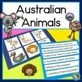 Australian Animals Sentence Picture Match