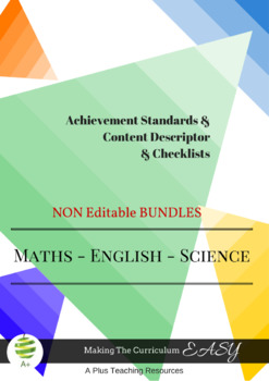 Australian Curriculum  Planning Tool & Checklists BUNDLE - Year 4