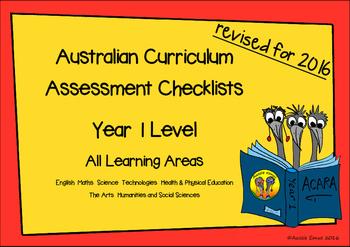 Australian Curriculum Assessment Check-lists for Year 1 20