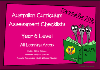 Australian Curriculum Assessment Check-lists for Year 6 -2