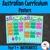 Year 1 Australian Curriculum Posters - Mathematics