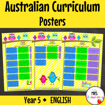 Year 5 Australian Curriculum Posters - English