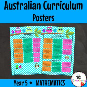 Year 5 Australian Curriculum Posters - Mathematics
