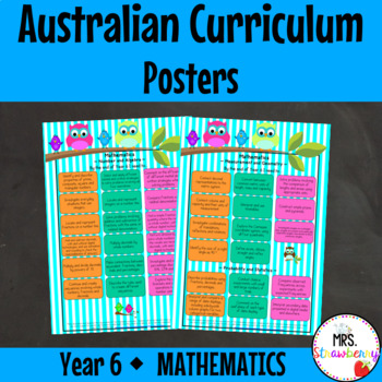 Year 6 Australian Curriculum Posters - Mathematics