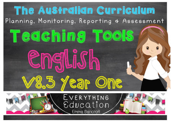 Australian Curriculum English v8.1 Year 1 Teacher Tools