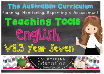 Australian Curriculum English V 8.3 YEAR 7 Monitoring and