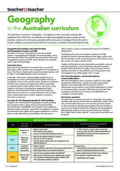Australian Curriculum Geography Overview