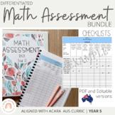 Australian Curriculum Mathematics Assessment Checklists: GRADE 5