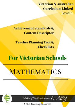 Australian Curriculum Maths Checklists  Level 1 Victorian