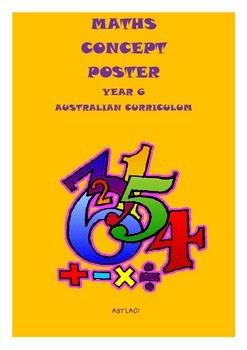 Australian Curriculum - Maths Concept Posters Year 6