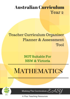 Australian Curriculum  Maths TEACHER ORGANISER - Year 2