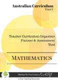 Australian Curriculum  Maths TEACHER ORGANISER - Year 6