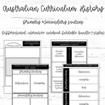Australian Curriculum - Primary & Secondary Sources - diff