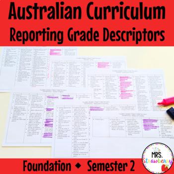 Australian Curriculum Reporting Grade Descriptors - Founda