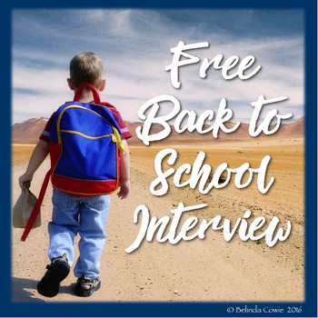 FREE Back to School Interview for the Beginning of the Year
