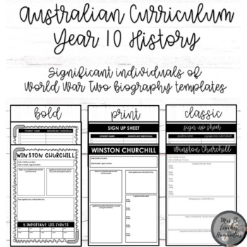 Australian Curriculum-Year 10 History-Significant individu