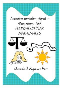 Australian Curriculum aligned measurement pack - foundation year