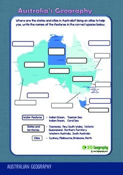 Australian Geography worksheets