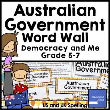 Australian Government Basics Word Wall