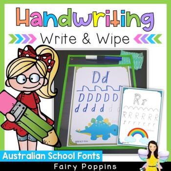 Australian Handwriting Practice - Write & Wipe Mats