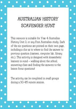 Australian History Scavenger Hunt