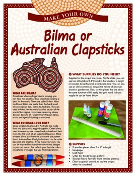 Australian Instruments - Make Your Own Bilma (Clapsticks)