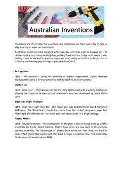 Australian Inventions Reading Passage