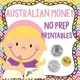 Australian Money No Prep Printable Worksheets